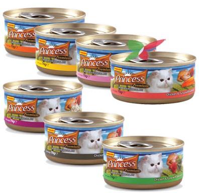 Harga makanan kucing merk Princes